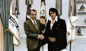 Which one is The King? Elvis making the President look like a bank clerk.